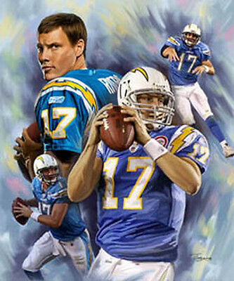 Philip Rivers : giclee print on canvas poster painting for autograph  B-0229