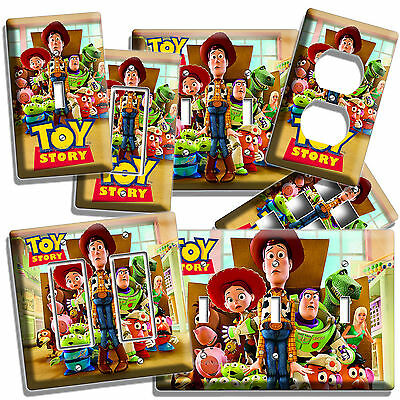 Toy Story Woody Buzz Light Switch Wall Plate Outlet Kids Girl Boys Bedroom Decor