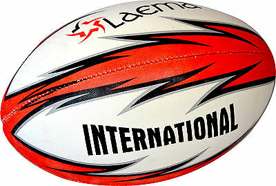 5X RUGBY -Ultra Hi-Tech Advance OzTag 4 PLY Union Match Ball -SENIOR Sz5
