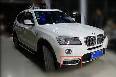 FOR BMW X3 F25 2011-2013 ABS Chrome Glossy Front Fog Lamp Light Cover Trim 4pcs