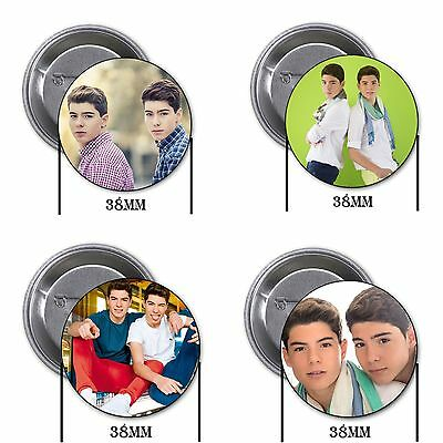 Los Gemeliers - 4 chapas, pin, badge, button, B