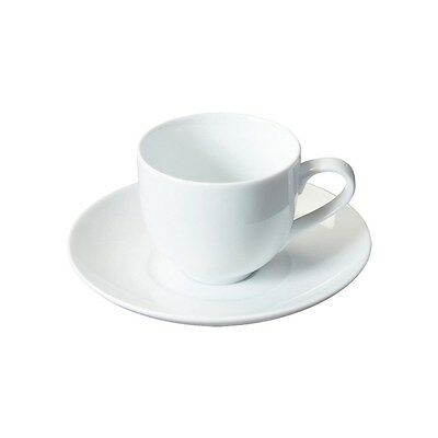 "Rene Ozorio Espresso Cup and Saucer (100ml ""Profile"") Set of 6 - Oozing Elegance"