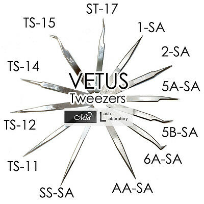 VETUS TS SA Precision Tweezers Fine Point Stainless Steel for Eyelash Extension