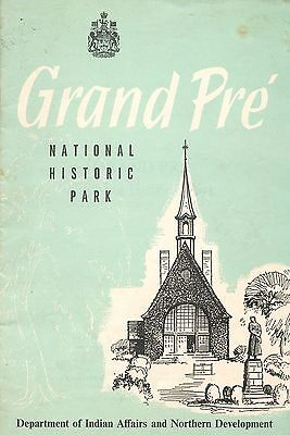 Old booklet travel GRAND PRE' NATIONAL HISTORIC PARK canada Indian Affairs