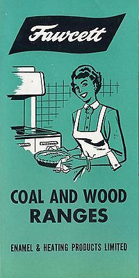 Old FAWCETT Coal and wood ranges pamphlet Sackville NB