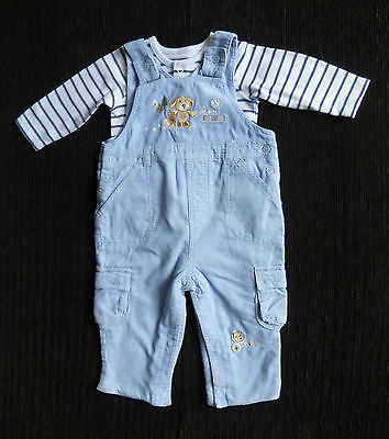 Baby clothes BOY 3-6m blue cord dungarees/Mothercare bodysuit 2nd item post-free