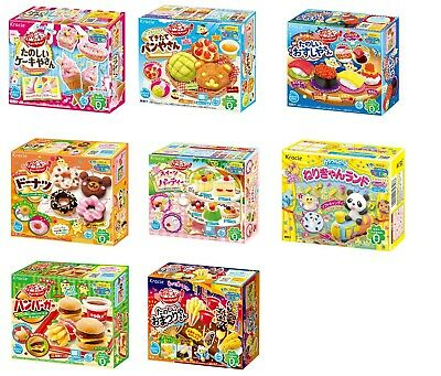 Kracie Popin' Cookin' Happy kitchen Intellectual DIY Kit Sushi Pizza Donut Cake