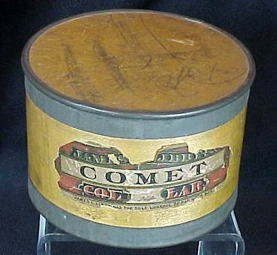 Antique Comet Collar Wood Box James Libby Original Label