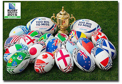 "Rugby World Cup 2015 England Poster Fridge Magnet Size 2.5"" x 3.5"""