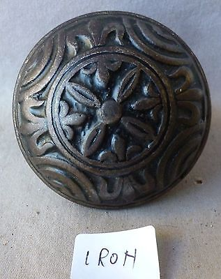 "Door Knob (single) Antique Heavy Cast Iron VICTORIAN Eastlake 2 1/4"" dia #A"