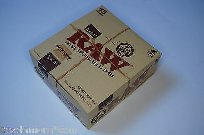 1 Box RAW ARTESANO KS SLIM King Size 15 Heftchen + Tips + Tray CLASSIC Papers