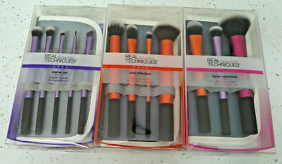 12-Brushes BOXED Real Techniques Core Collection Eyes Starter Kit Travel Set