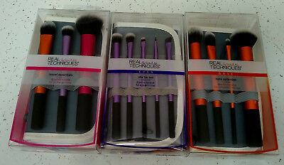 3 RETAIL BOX Real Techniques Core Collection Eyes Starter Kit Travel Essentials