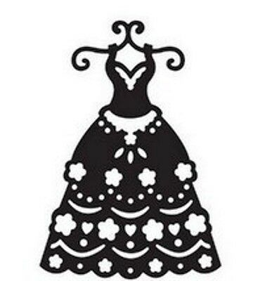Wedding Dress die - for use in most die cutting systems