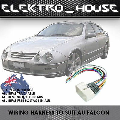 Ford Falcon Au Harness Audio Stereo Radio Wiring Loom Block Plug Wire Cables