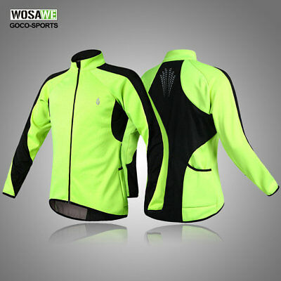 Mens NEW Fleece Thermal Winter Cycling Jacket Casual Coat Outdoor Bike Jersey