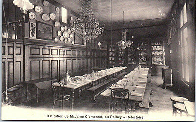 93 RAINCY - Institution de Madame Clémencet, le réfectoire