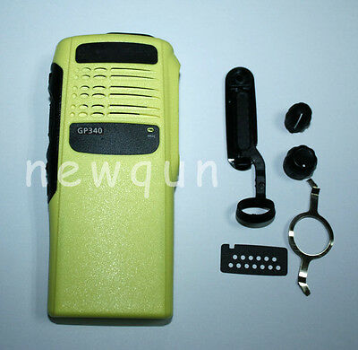 Yellow Replacement Front Outer Case Housing Cover For Motorola Radio GP340