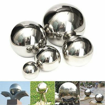 5 Size Stainless Steel Mirror Sphere Hollow Ball Home Garden Ornament Decoration