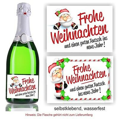 aufkleber sektflasche frohe weihnachten fest sekt b eur. Black Bedroom Furniture Sets. Home Design Ideas