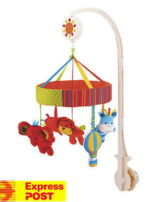 Mothercare Jungle Animals Safari Baby Crib Musical Cot Mobile Brand New