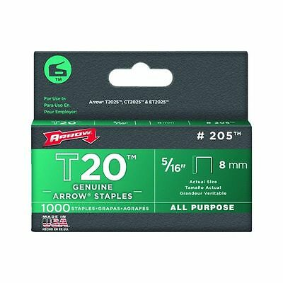 Arrow 205 5 Pack T20 5/16in. All Purpose Staple 1,000/Box