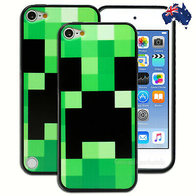 Green Black Check Hard Back Case for Apple iPod Touch 5 5th 6 6th Gen Cover