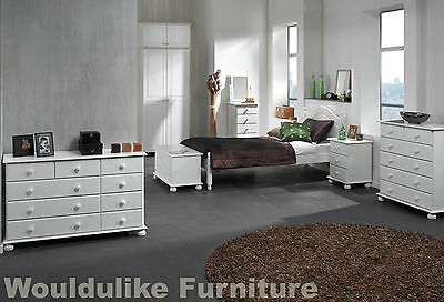 Copenhagen White Painted Bedroom Furniture - All Matching Items Available