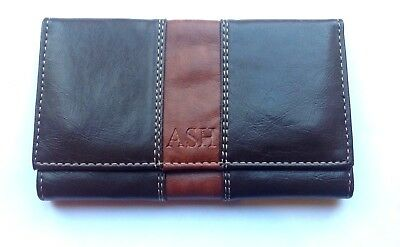 ASH Dark Brown  Wrap Around Tobacco Pouch