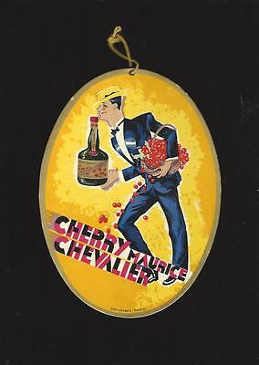 Cherry Maurice Chevalier Oval Advertising Hanging Sign, Cherry Brandy 1930's?