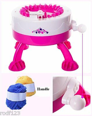 MINTOYS Kids Childrens Colourful Knitting Machine with Two Balls of Yarn