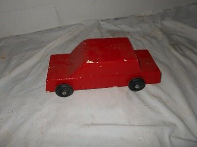 Vintage Collectible Wooden Handcrafted  Antique Toy Car