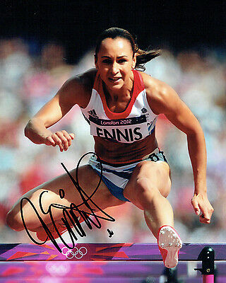 Jessica ENNIS Autograph Signed 10x8 Photo AFTAL COA GB OLYMPIC Gold Medal WINNER