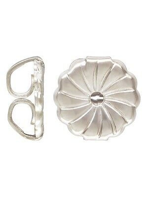 925 Sterling Silver 9mm Extra Large Premium Post Earring Backs  4pcs #5229-9