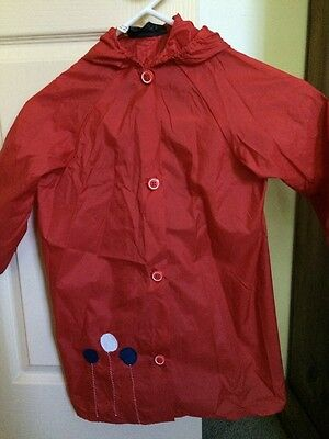 Buddies Vintage Childrens Raincoat Made in Australia Balloon Motif Size 5