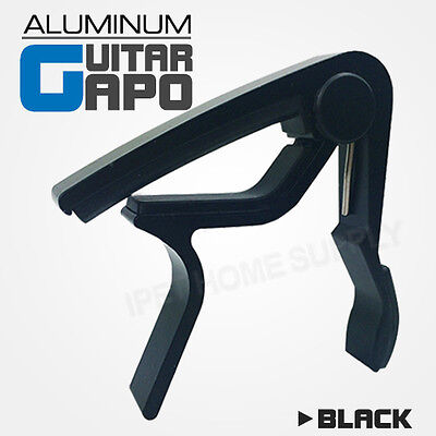 Aluminum Black Guitar Capo Spring Trigger Electric Acoustic Quick Change Release