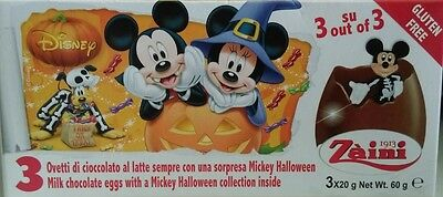 2 Boxes (6 Eggs) Halloween Mickey Chocolate Surprise Inside, Free Gift