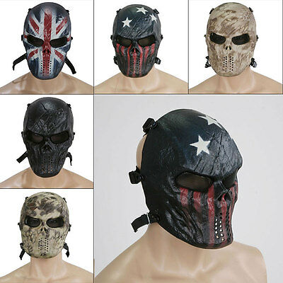 Tactical Airsoft Full Face Protection Halloween Coaplay Terminator Skull Mask