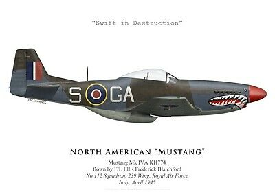 Print Mustang IVA (P-51) KH774, No 112 Squadron RAF, Italy, 1945 (by G.Marie)