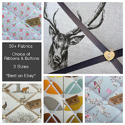 Fabric Pin/memo/notice/memory/photo Board Professionally Made Choice Of Style
