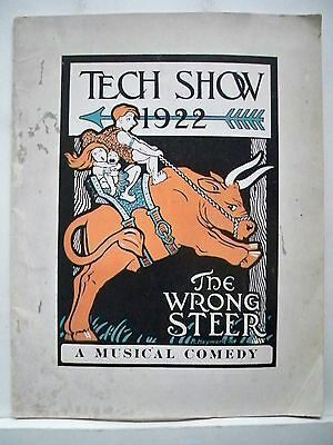 THE WRONG STEER Large Program MIT TECH SHOW Cambridge, MA 1922