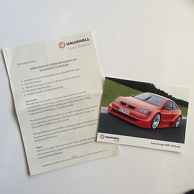 Vauxhall Astra Coupe Opc Extreme Press Release. Collectable Item Pr0099