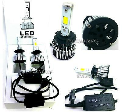KIT H4 LAMPADE A LED CREE FULL LED 2500x2 LUMEN 6000K DIGITALE 12V 24V AUTO