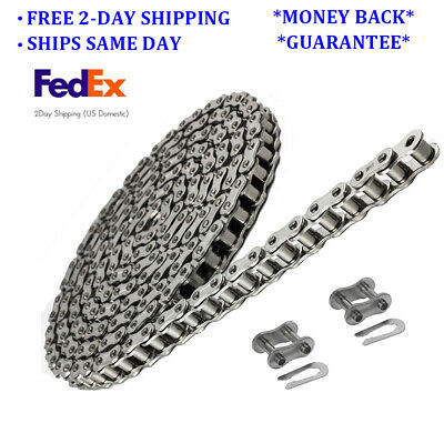 #35 SS Stainless Steel Roller Chain 10 Feet with 2 Connecting Links