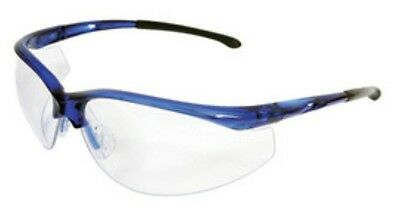 Radnor 64051309 Safety Glasses Blue Frame Clear Anti-Scratch Lens QTY 3