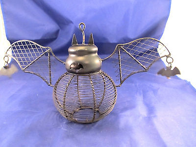 Scary Halloween Ambiance With Wonderful Black Bat Hanging Lanterns