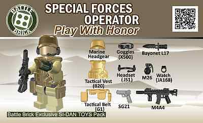 Battle Brick - Special Forces Operator - Accessory Kit for Lego BLOW OUT!!!