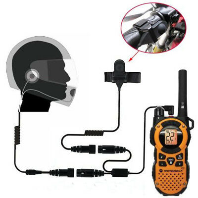 Motorcycle Helmet Stereo Headset With Mic for Motorola Two-Way Radio 2.5MM