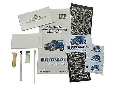 Land Rover Defender ISR Unique Anti Theft Secturity Window Marking Kit - DA8533
