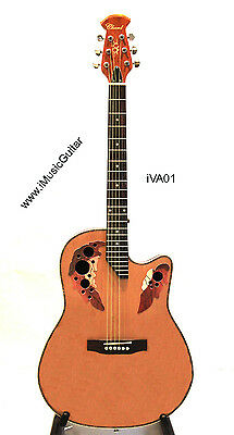 iMusicGuitar Chard iVA01 Natural Round back Acoustic Guitar Brand New